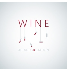wine concept art design background vector image