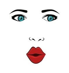 Woman face pop art vector