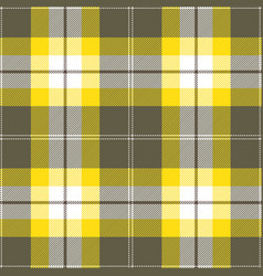 Yellow and gray tartan plaid seamless pattern vector