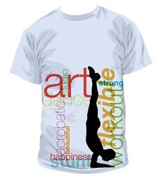 Yoga T-shirt vector