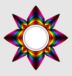 abstract colourful star with copy space border vector image vector image