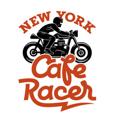 cafe racer 004 vector image
