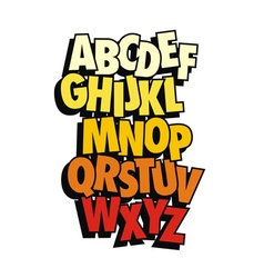 Comic style font type alphabet vector image vector image
