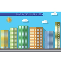 Flat design concept for urban landscapes city vector image