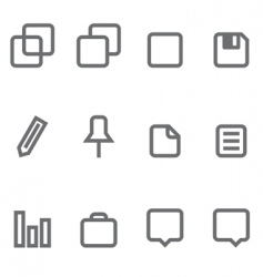 simple icons vector image vector image