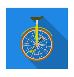 unicycle for the circus bicycle with one wheel vector image vector image