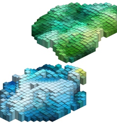3D Cubes Abstract Background vector image vector image