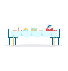 christmas dinner served table vector image