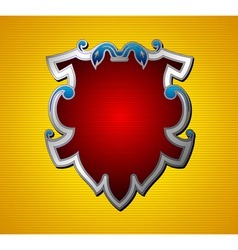 emblem shield vector image