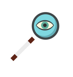 magnifying glass icon flat style vector image
