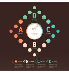 Modern dot arrow infographics vector image vector image