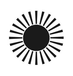 sun black icon element for design vector image