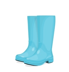 Blue rubber boots vector image