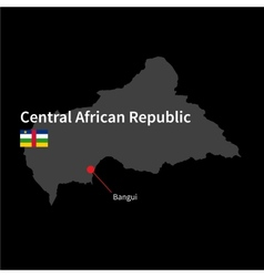 Detailed map of central african republic and vector