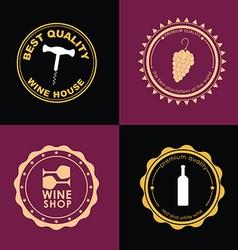 Logo Design for wine shops cafes restaurants vector image vector image