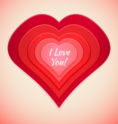 red abstract heart label vector image