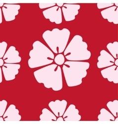 Cherry blossom sakura seamless pattern background vector image