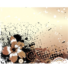 grunge background with flower vector image vector image