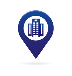 hospital map pointer icon marker gps location vector image vector image