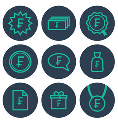 set of icons about money with frank symbols vector image