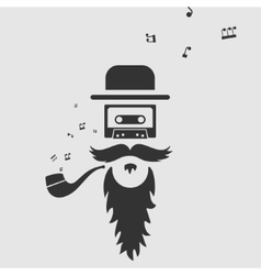 Symbol of old music vector image