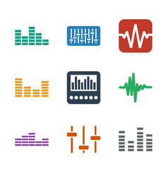 9 equalizer icons vector