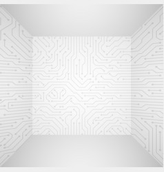 abstract modern white technology 3d vector image