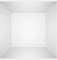 Abstract modern white technology 3d vector