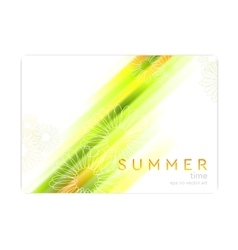 Abstract summer background with glowing stripes vector