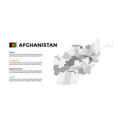 Afghanistan map infographic template slide vector