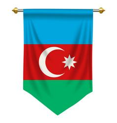 Azerbaijan pennant vector