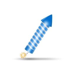 Blue fireworks rocket petard vector image