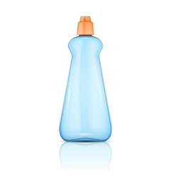 Blue plastic bottle with orange cap vector image