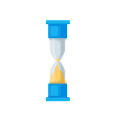 blue sand hourglass sandglass device for vector image