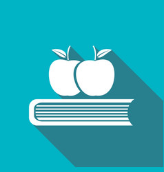 Book icon with a long shadow vector