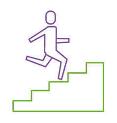 businessman climbing stairs up success business vector image