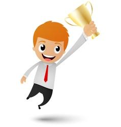 Businessman victory vector