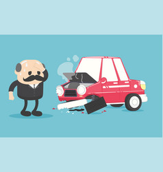 car accident on road vector image