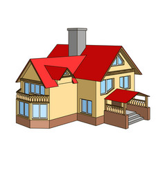 cartoon house with a gable roof vector image