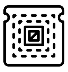 Central processor icon outline style vector
