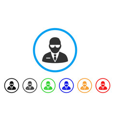 Chief rounded icon vector