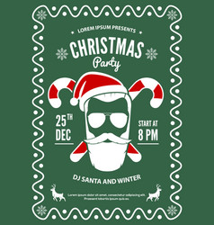 christmas party invitation flyer or poster design vector image