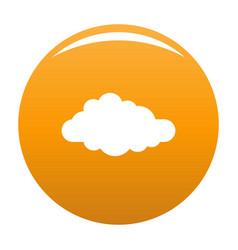 Cirrus icon orange vector