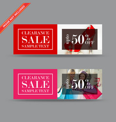 Clearance sale web banners vector