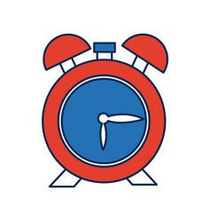 Clock alarm hour school design icon vector