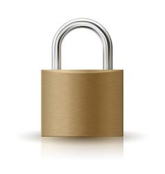 Closed padlock icon vector