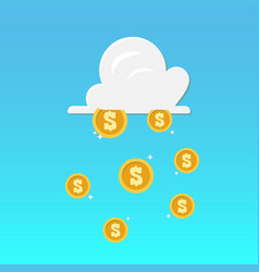 cloud and money rain vector image