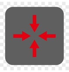 Compress Arrows Rounded Square Button vector