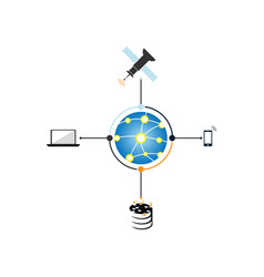 computer internet networking wide area network vector image