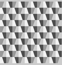 creative seamless polygonal 3d pattern vector image